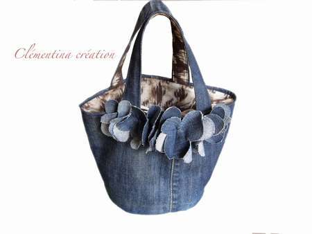 sac jean recycle patron patron sac a main en jean sac. Black Bedroom Furniture Sets. Home Design Ideas